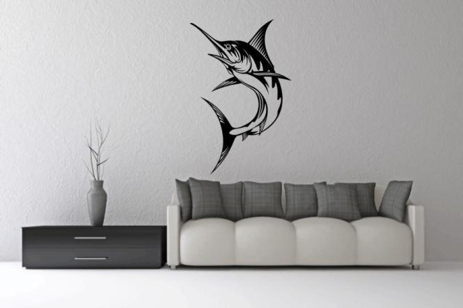 wandtattoo schwertfisch. Black Bedroom Furniture Sets. Home Design Ideas