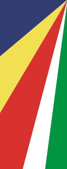 Flagge Seychellen im Hochformat