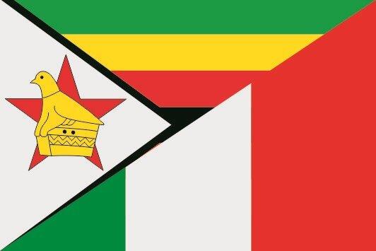 Flagge Simbabwe - Italien