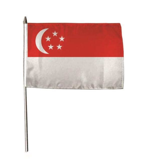 Stockflagge Singapur 30 x 45 cm