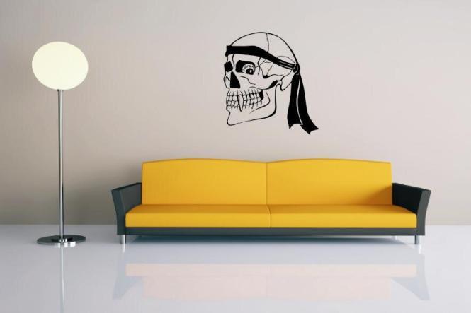Wandtattoo Skull Totenkopf