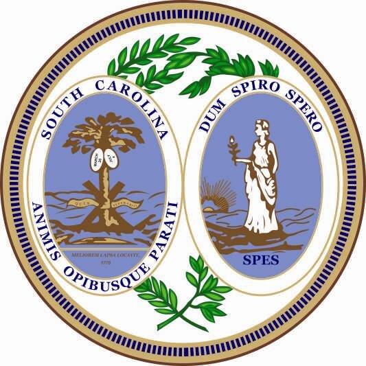 Aufkleber South Carolina Siegel Seal