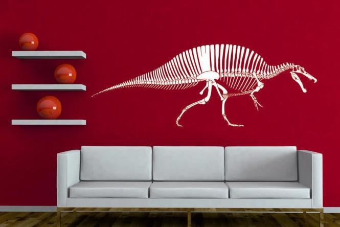 Wandtattoo Spinosaurus Skelett II