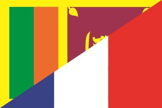 Flagge Sri Lanka - Frankreich