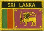 Aufnäher Sri Lanka mit Schrift