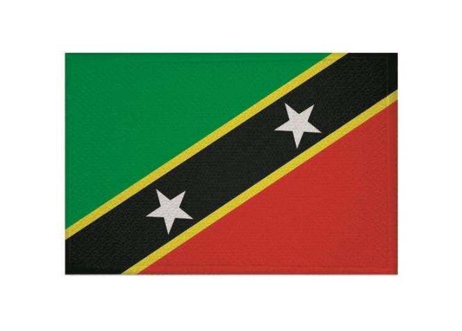 Aufnäher Patch St. Kitts & Nevis 9 x 6 cm