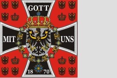 Fahne Preussen Standarte des Königs 1889-1918 150 x 150 cm