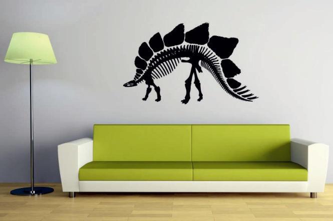 Wandtattoo Stegosaurus Skelett