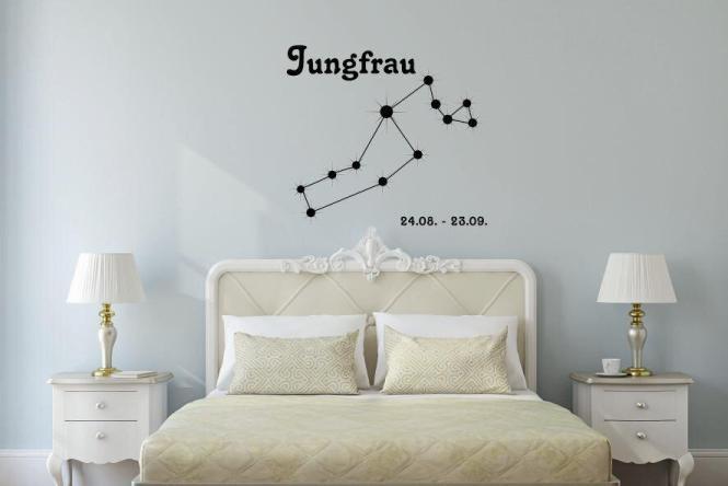 Wandtattoo Sternbild Jungfrau