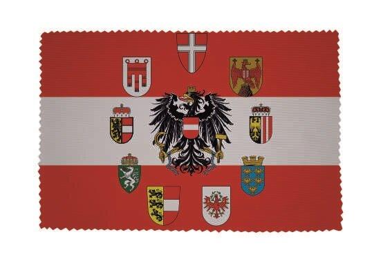 Glasreinigungstuch Österreich Adler mit 9 Bundesländer Wappen