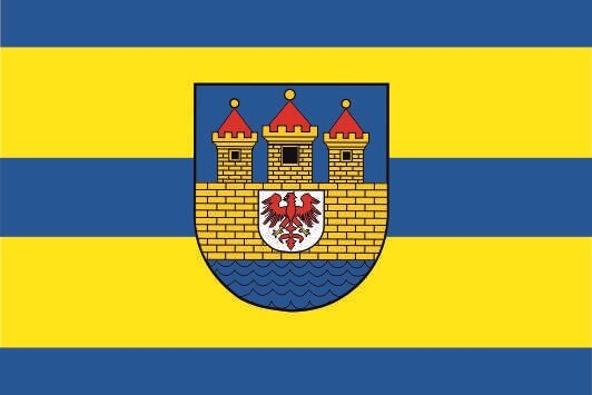 Flagge Strasburg Uckermark