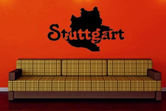 Wandtattoo Stuttgart Karte