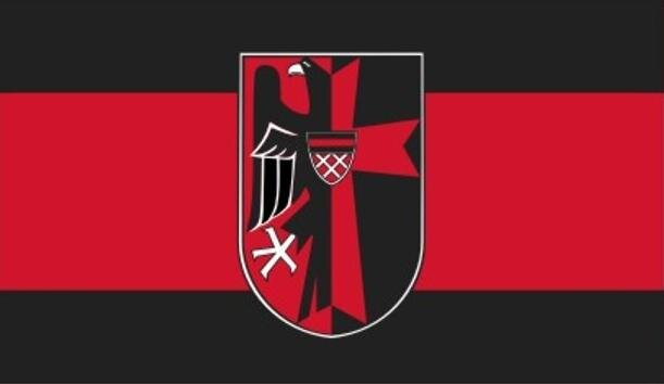 Flagge Sudetenland mit Adler