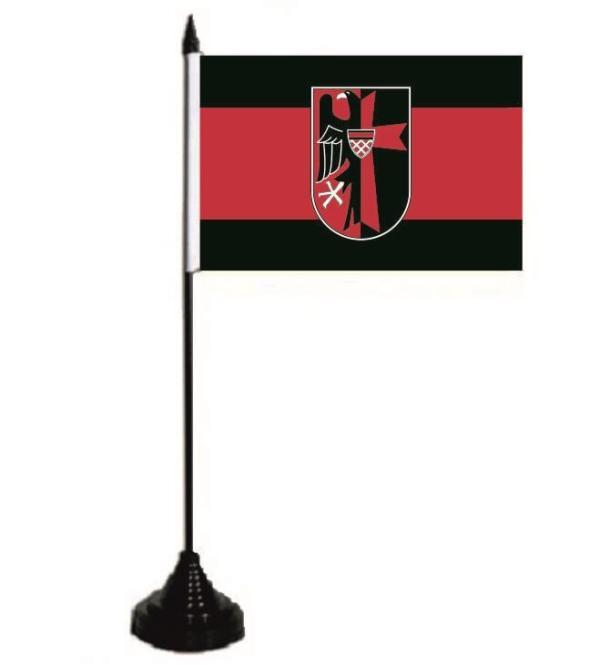 Tischflagge Sudetenland mit Adler 10 x 15 cm