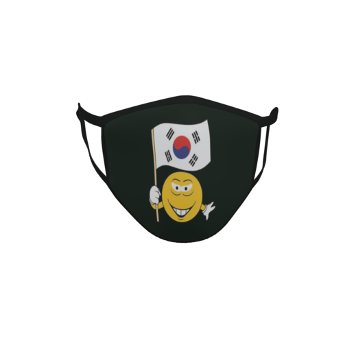 Gesichtsmaske Behelfsmaske Mundschutz schwarz Süd Korea Smily