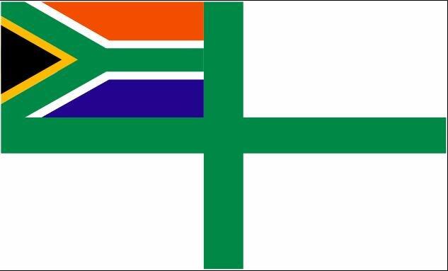 Flagge Südafrika Seekrieg