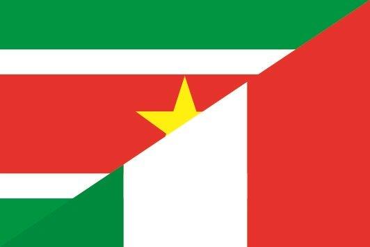Flagge Surinam - Italien