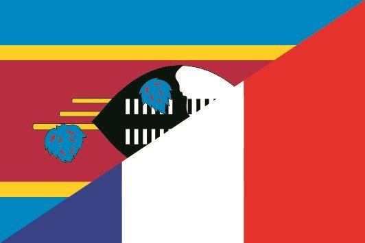 Flagge Swasiland - Frankreich