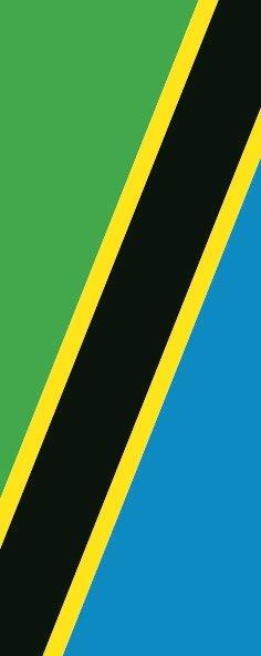 Flagge Tansania im Hochformat