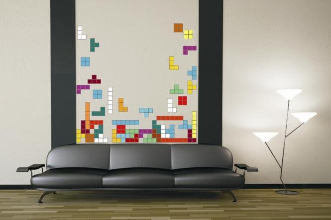 wandtattoo tetris. Black Bedroom Furniture Sets. Home Design Ideas