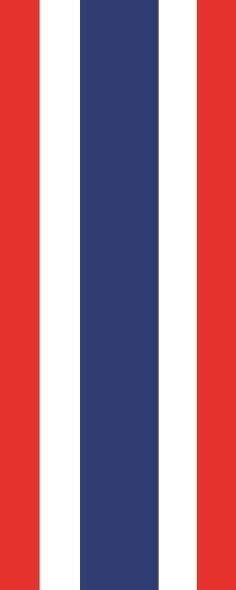 Flagge Thailand im Hochformat