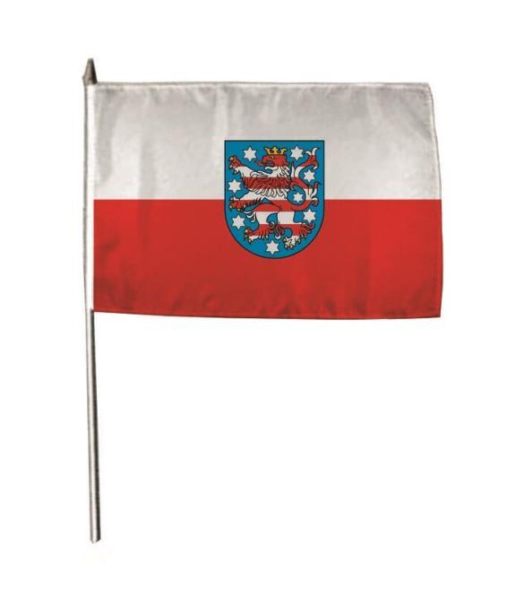 Stockflagge Thüringen 30 x 45 cm