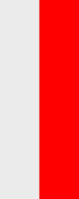 Flagge Thüringen ohne Wappen im Hochformat