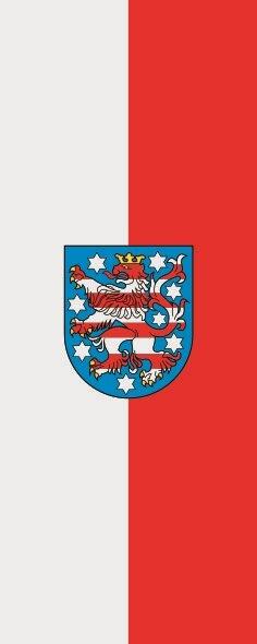 Flagge Thüringen im Hochformat
