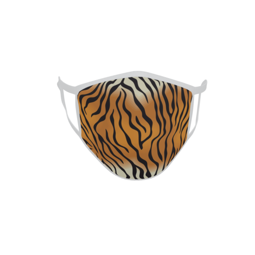 Gesichtsmaske Behelfsmaske Mundschutz Tiger Muster M