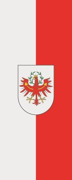 Flagge Tirol im Hochformat