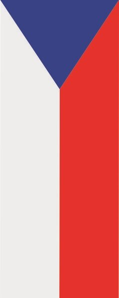 Flagge Tschechien im Hochformat