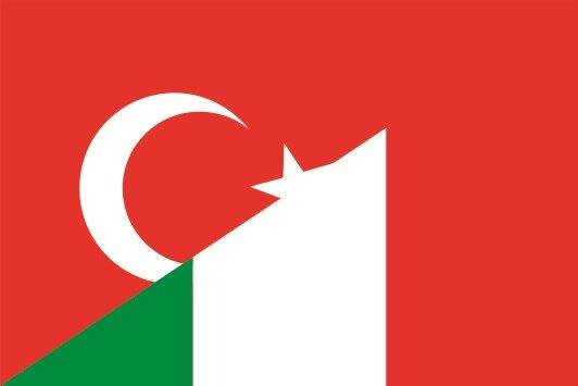 Flagge Türkei - Italien