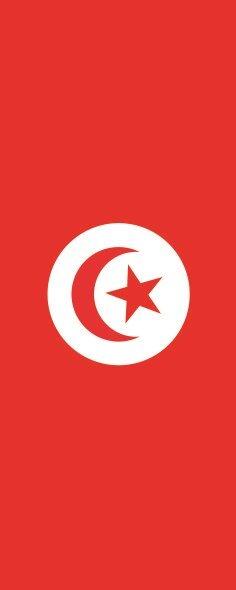 Flagge Tunesien im Hochformat