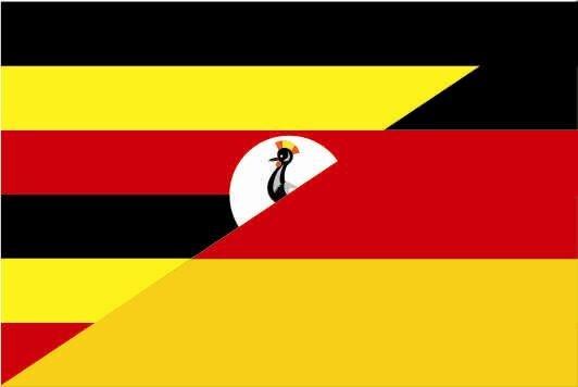 Flagge Uganda - Deutschland