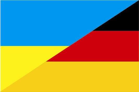 Flagge Ukraine - Deutschland
