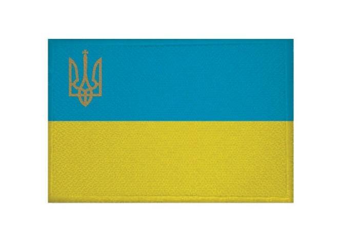 Aufnäher Ukraine mit Wappen Patch 9 x 6 cm
