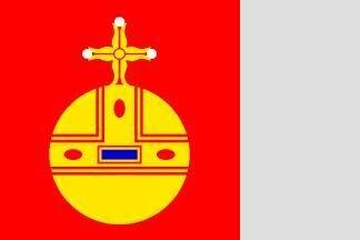Flagge Uppsala 120 x 120 cm