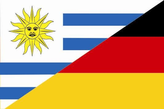 Flagge Uruguay - Deutschland
