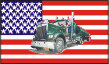 Fahne USA Tank-Truck 90 x 150 cm