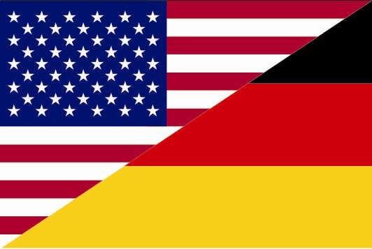 Flagge USA - Deutschland