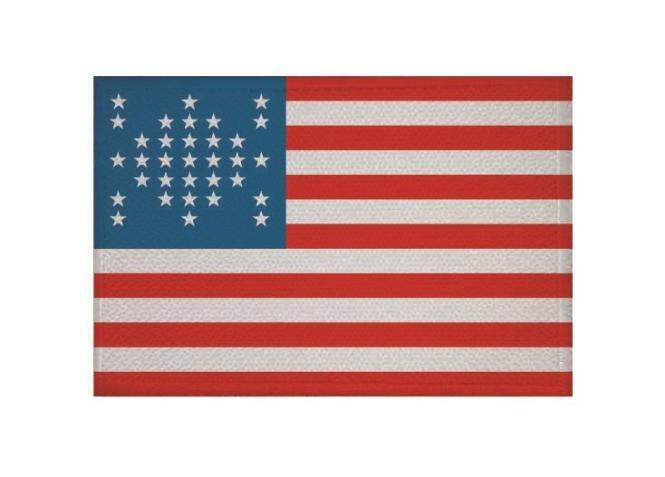 Aufnäher USA 33 Sterne Patch 9 x 6 cm