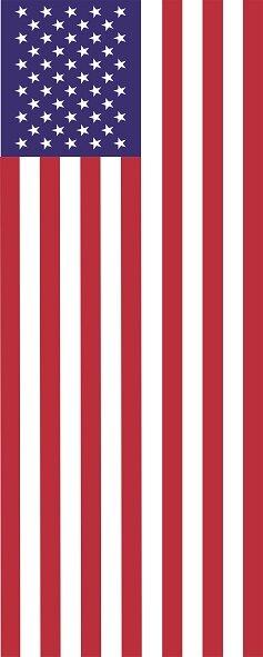 Flagge USA im Hochformat