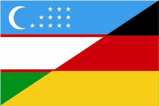 Flagge Usbekistan - Deutschland