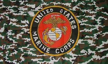 Fahne US Marines Camouflage 90 x 150 cm
