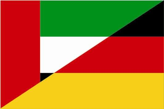 Flagge Vereinigte Arabische Emirate VAE - Deutschland