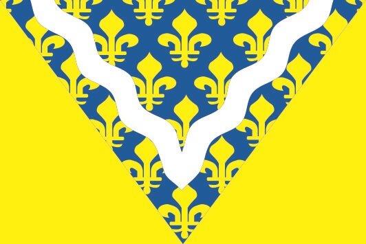 Flagge Val de Marne Department