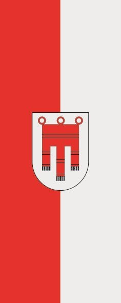 Flagge Vorarlberg im Hochformat