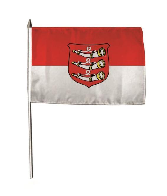 Stockflagge Weißenhorn 30 x 45 cm