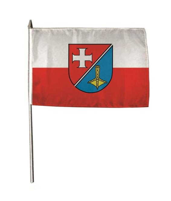 Stockflagge Weissach 30 x 45 cm