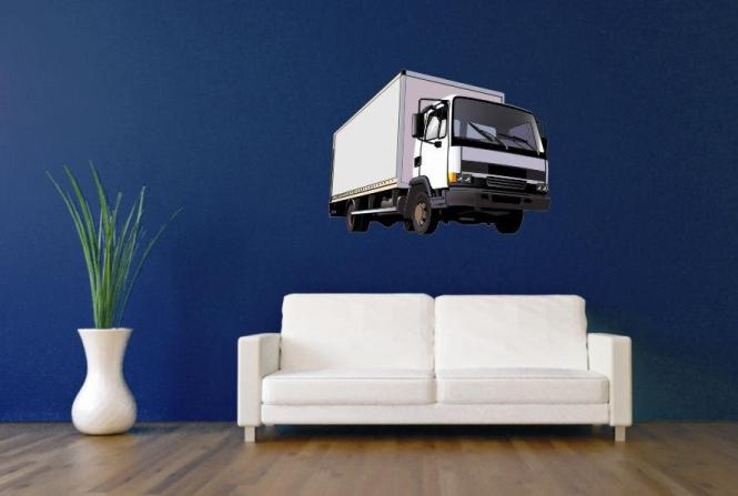 wandtattoo weisser truck. Black Bedroom Furniture Sets. Home Design Ideas